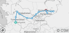 Ashgabat To Bishkek (36 Days) Silk Road Highlights And Kyrgyzstan Overland - 14 destinations