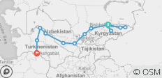 Bishkek To Ashgabat (37 Days) Silk Road Highlights And Kyrgyzstan Overland - 14 destinations