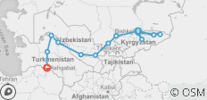 Bishkek To Ashgabat (36 Days) Silk Road Highlights And Kyrgyzstan Overland - 14 destinations