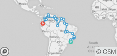 Rio To Quito Via The Guianas (15 Weeks) Trans South America - 38 destinations