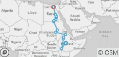 Addis Ababa To Cairo (38 Days) Nile Trans - 20 destinations