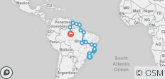 Rio To Manaus Via The Guianas (57 Days) Tropics Of South America - 20 destinations