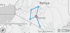 Kenya Private Safari with Nairobi & Amboseli National Park Area - 8 destinations