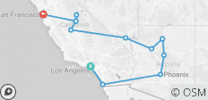 L A To The Bay (11 Days) - 12 destinations