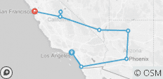 LA To The Bay (11 Days) - 9 destinations