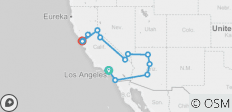 Wild Western (Winter, 14 Days) (from Los Angeles to San Francisco) - 13 destinations