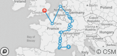 Rhine & Rhône Revealed with Paris & London - Northbound - 25 destinations