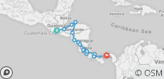 Antigua to Panama City - 16 destinations