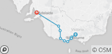 Great Ocean Road Adventure ex Melbourne  (Basix) - 10 destinations
