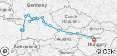 Trans-European cruise from Strasbourg to Budapest (port-to-port cruise) - 17 destinations