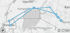 Nairobi To Nairobi (19 Days) Gorillas & Gameparks - 11 destinations