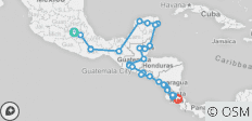 Epic Central America (from Mexico City to San Jose) - 47 destinations