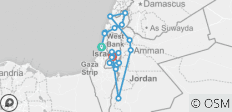 Israel, West Bank & Jordan Full Experience Package (12D/11N) - 20 destinations