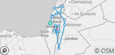 Israel, West Bank & Jordan Full Experience Package (12D/11N) - 19 destinations