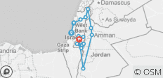 Israel, West Bank & Jordan Full Experience Package (12D/11N) - 18 destinations