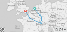 European Highlights with Eurostar (End London, 8 Days) - 7 destinations