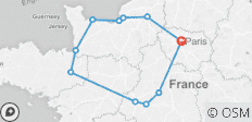 Jewels of France including Normandy (8 Days) - 11 destinations