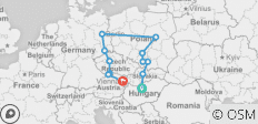 Highlights Of Eastern Europe - End Vienna , Classic Group , 2021 (14 Days) - 12 destinations