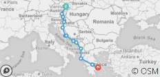 The Eastern Discovery (14 Days) (from Vienna to Athens) - 13 destinations