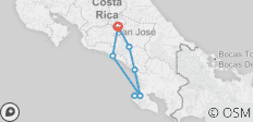 Costa Rica: Hike, Raft & Zipline - 8 destinations
