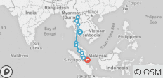 Epic Bangkok to Singapore (from Bangkok to Singapore City) - 11 destinations