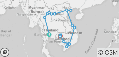 Bangkok to Angkor Wat - 29 days - 30 destinations