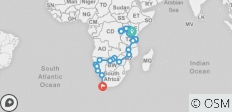 Nairobi To Cape Town (75 Days) Grand Adventurer - 34 destinations