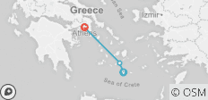 Santorini to Athens - 3 destinations