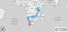 Nairobi To Cape Town (56 Days) Coast To Coast - 30 destinations