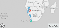 Cape to Namibia - 14 days - 10 destinations