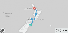 City to City (ex. Christchurch) (Kiakoura) - 7 destinations