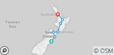 City to City (ex. Christchurch) 2018-19 (Kiakoura) - 7 destinations