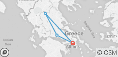 Ancient Greece on Foot Guided Walk - 4 destinations