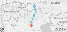 Cycle Innsbruck to Verona - 9 destinations