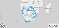 Southern African Explorer - 62 destinations