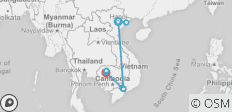 Vietnam and Cambodia at Glance for 9 Days - 11 destinations