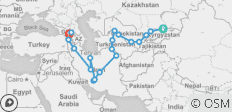 Bishkek To Tbilisi (42 Days) Kyrgyzstan To Caucasus - 19 destinations
