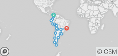 South America Overland - 19 destinations