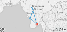 Burma Legend Family Holiday 8 Days Trip - 5 destinations
