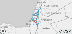 Holy Land Tour - 8 days - 15 destinations