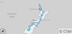 The Big Tiki (Queenstown To Auckland) - 16 destinations