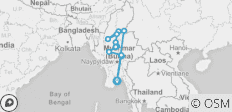 Spirit of Myanmar & the Untouched Upper Irrawaddy - Southbound - 16 destinations