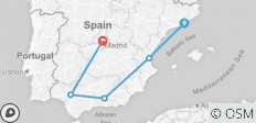 Barcelona to Granada and Madrid Tour - 5 destinations