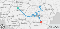 8 Days Transylvania & Bucovina from Budapest to Bucharest - 16 destinations