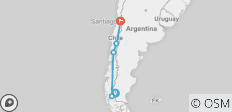 Patagonian Adventure 2018/2019 (Start Ushuaia, End Santiago) - 5 destinations