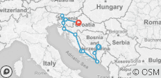 Bosnia, Croatia and Slovenia Tour - 11 destinations