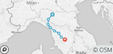 Cycle the Via Francigena - Parma to Siena - 8 destinations