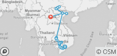 The Heart of Cambodia & Vietnam with Sapa and Luang Prabang - Northbound - 29 destinations