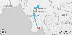 The Golden Land (from Amarapura to Rangoon (Yangon)) - 8 destinations