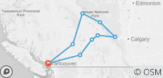 Rockies Summer 4-Day Tour from Vancouver - 9 destinations